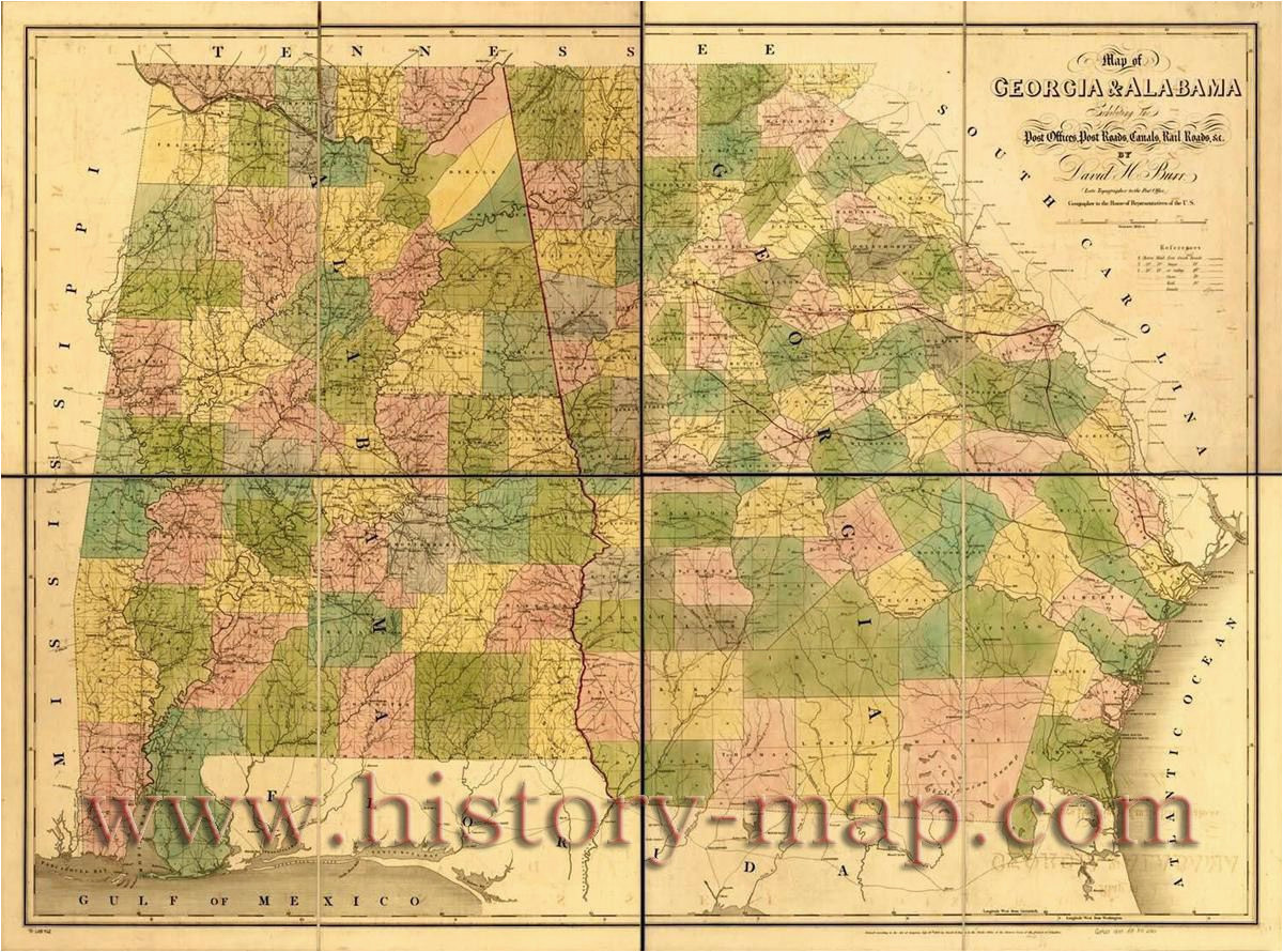 old map of georgia and alabama civil war ga pinterest georgia
