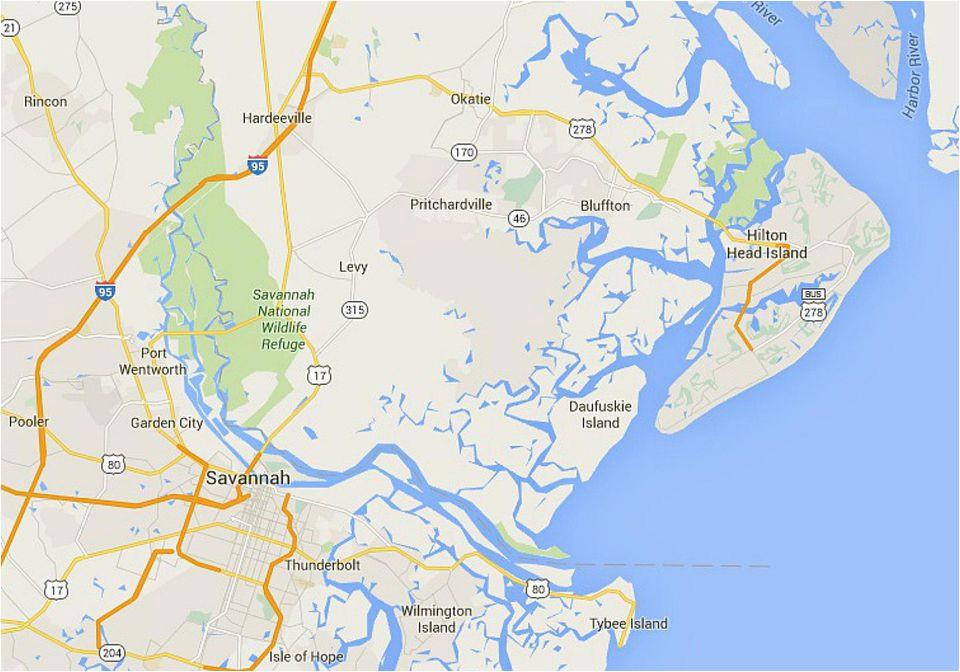 maps of hilton head island south carolina