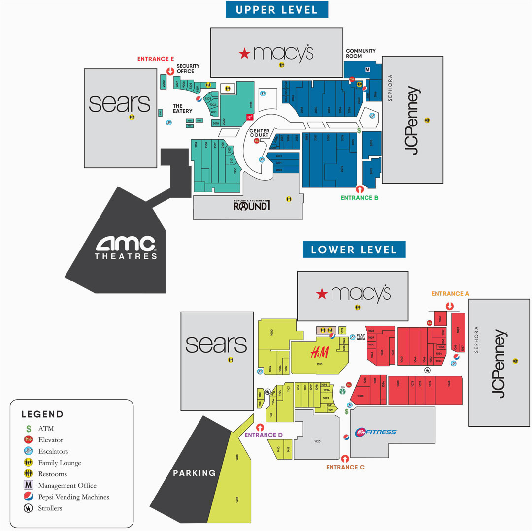 Outlets In California Map Eastridge Center Shopping Mall In