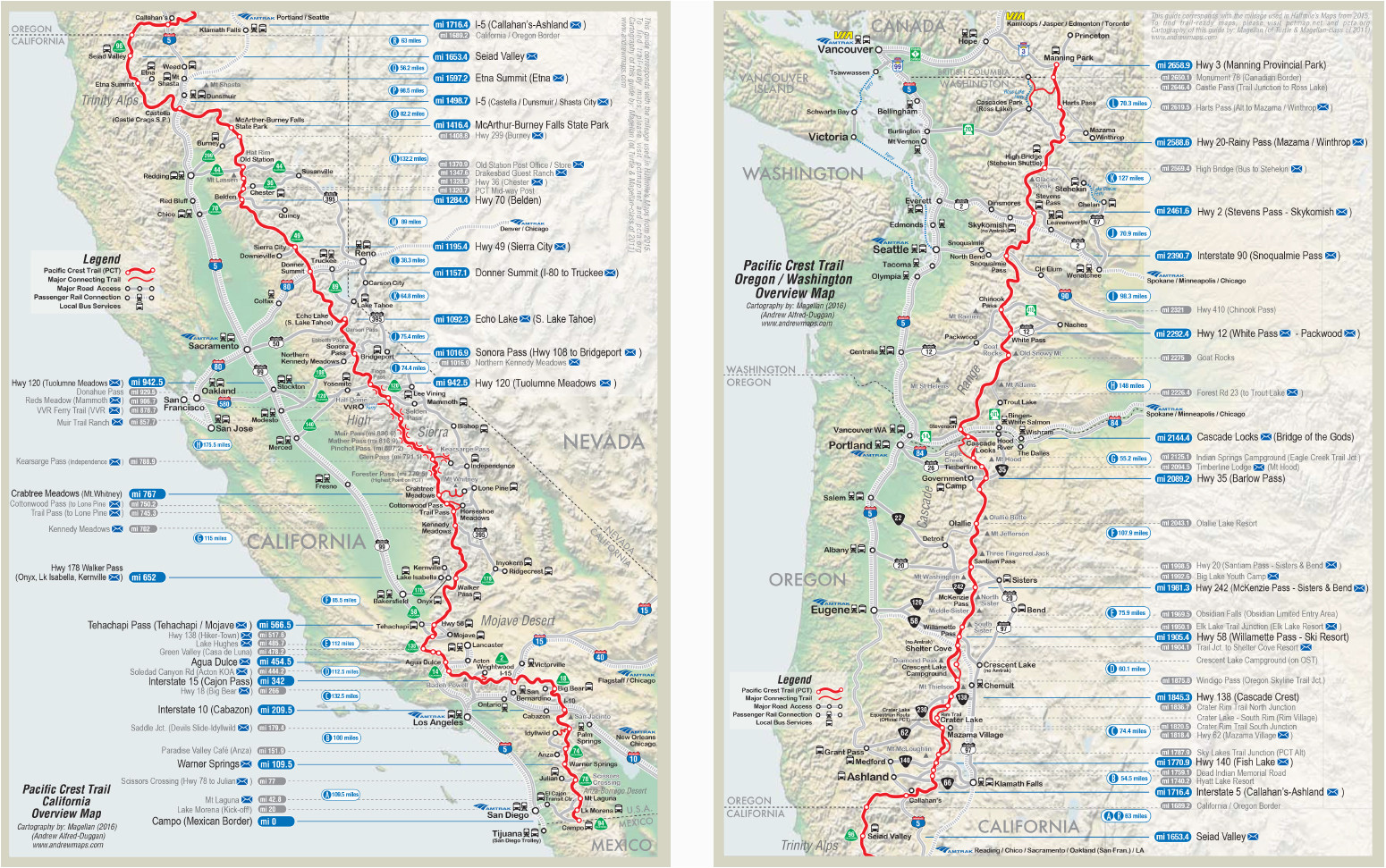 Pacific Crest Trail Map southern California Pct Trail Map Luxury Map ...