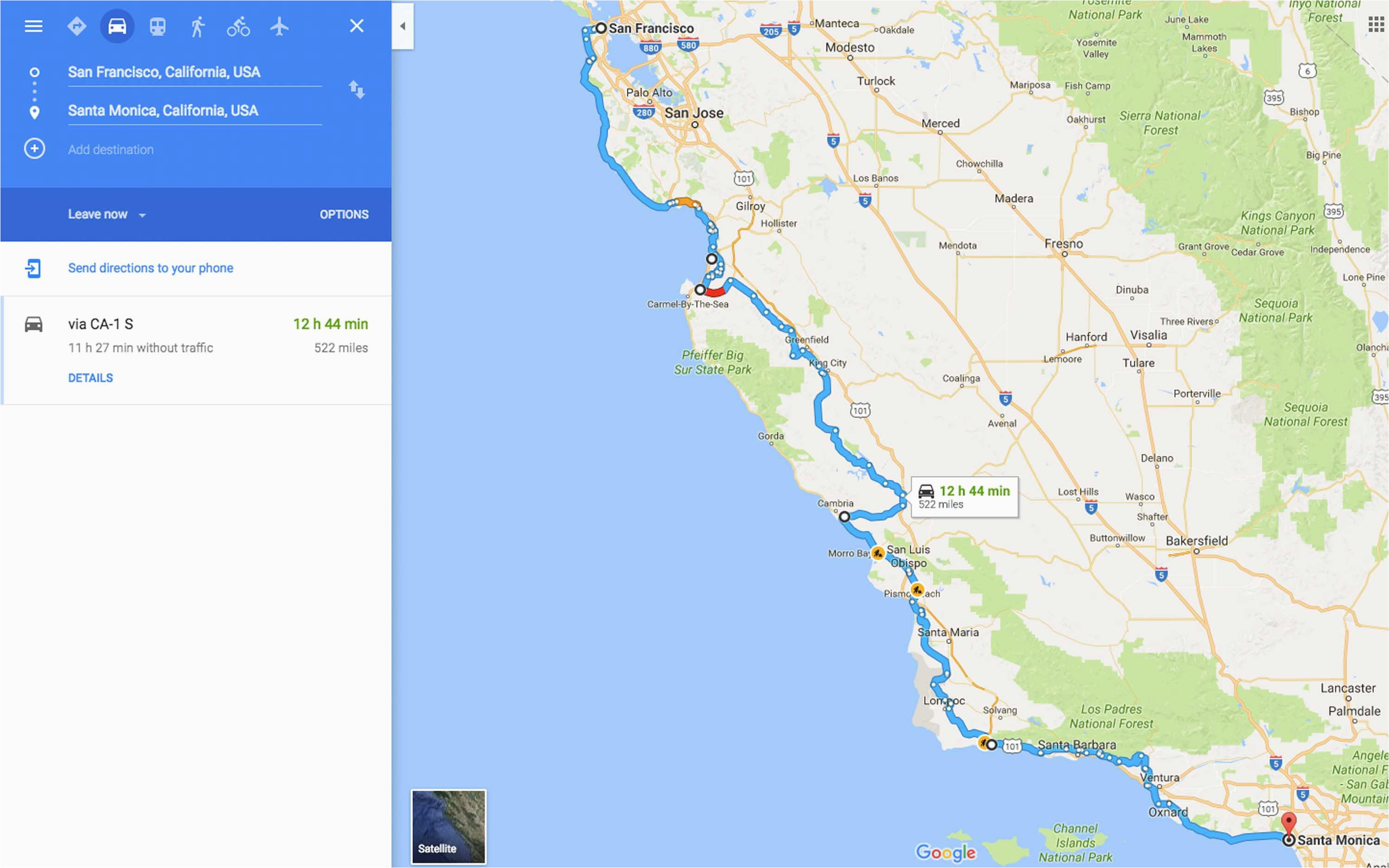 map of pebble beach california best of highway 1 road trip from san