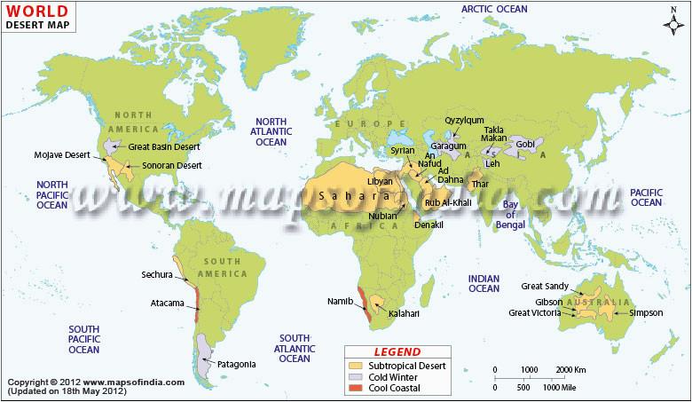 world deserts map