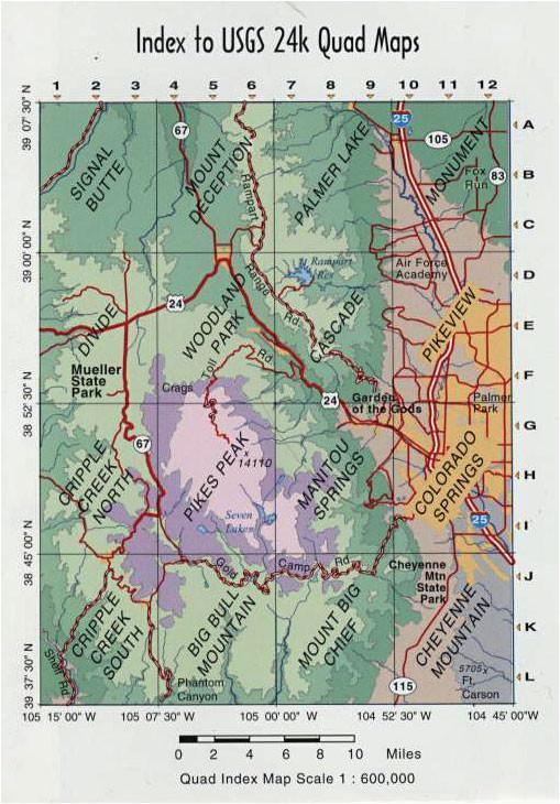 sky terrain colorado springs pikes peak trail map 4th edition feral