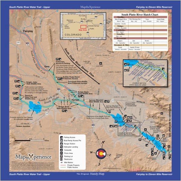tackle shop south platte rvr fishing map bundle colorado the