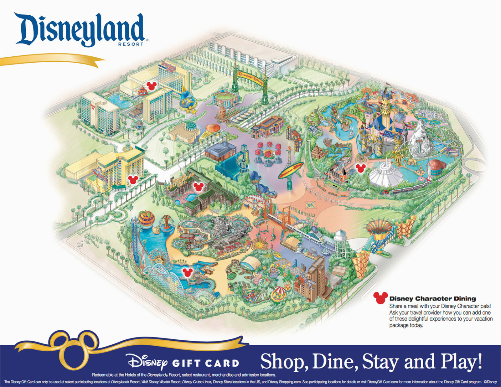 image about Printable Map of Disneyland referred to as Printable Map Of Disneyland and California Experience