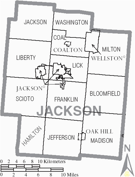 Property Maps Ohio File Map Of Jackson County Ohio with Municipal and township Labels