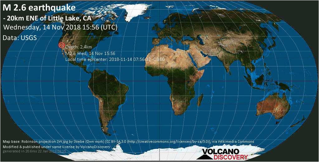 earthquake info m2 6 earthquake on wed 14 nov 15 56 32 utc