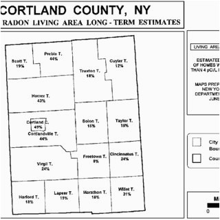 pdf development and distribution of radon risk maps in new york state