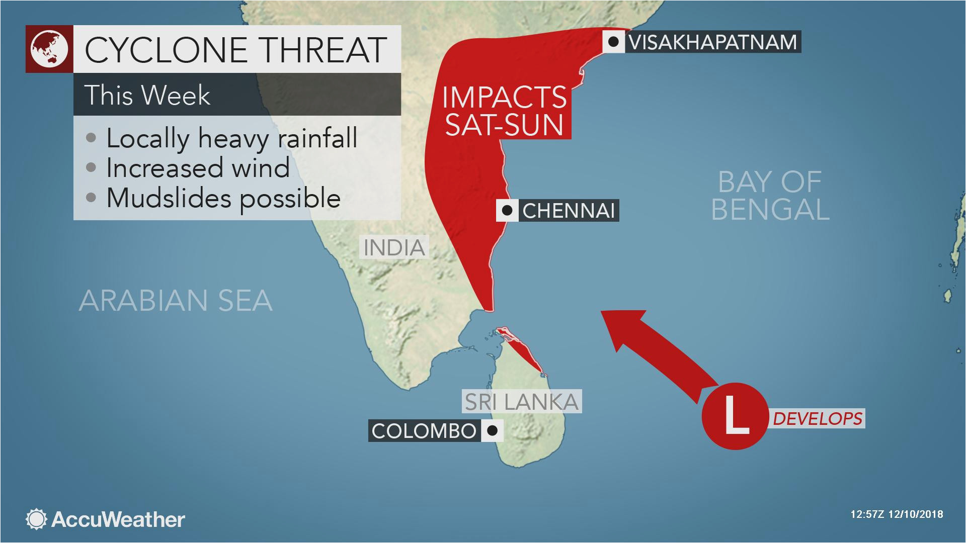 potential tropical cyclone may impact india during mid december