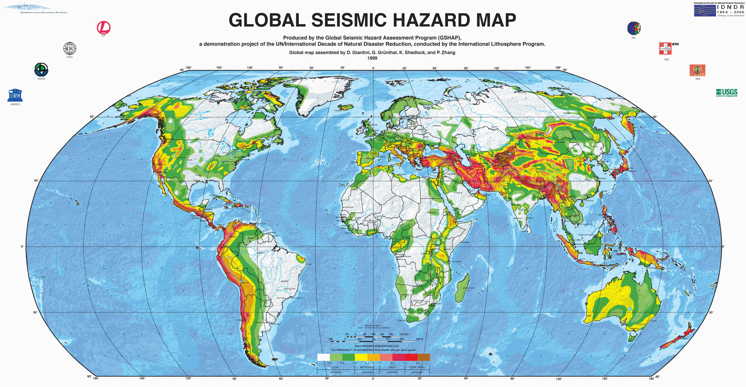 live earthquake map california fresh us earthquake hazard map with