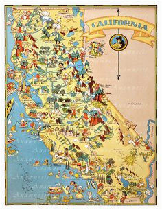 16 best california map images on pinterest west coast