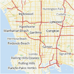los angeles area map u s news travel