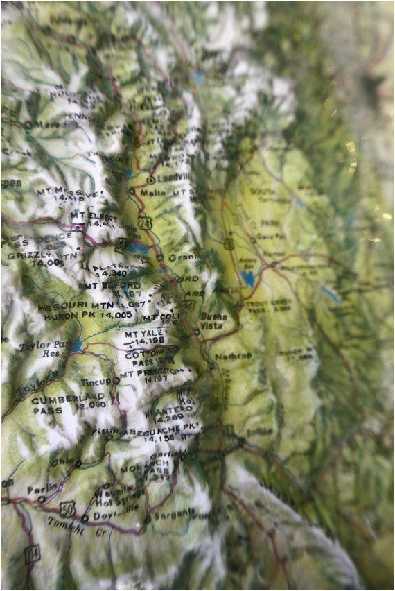 3d Map Of Arizona.Relief Map Of Arizona Vintage Kistler Graphics 3d Map Of Colorado