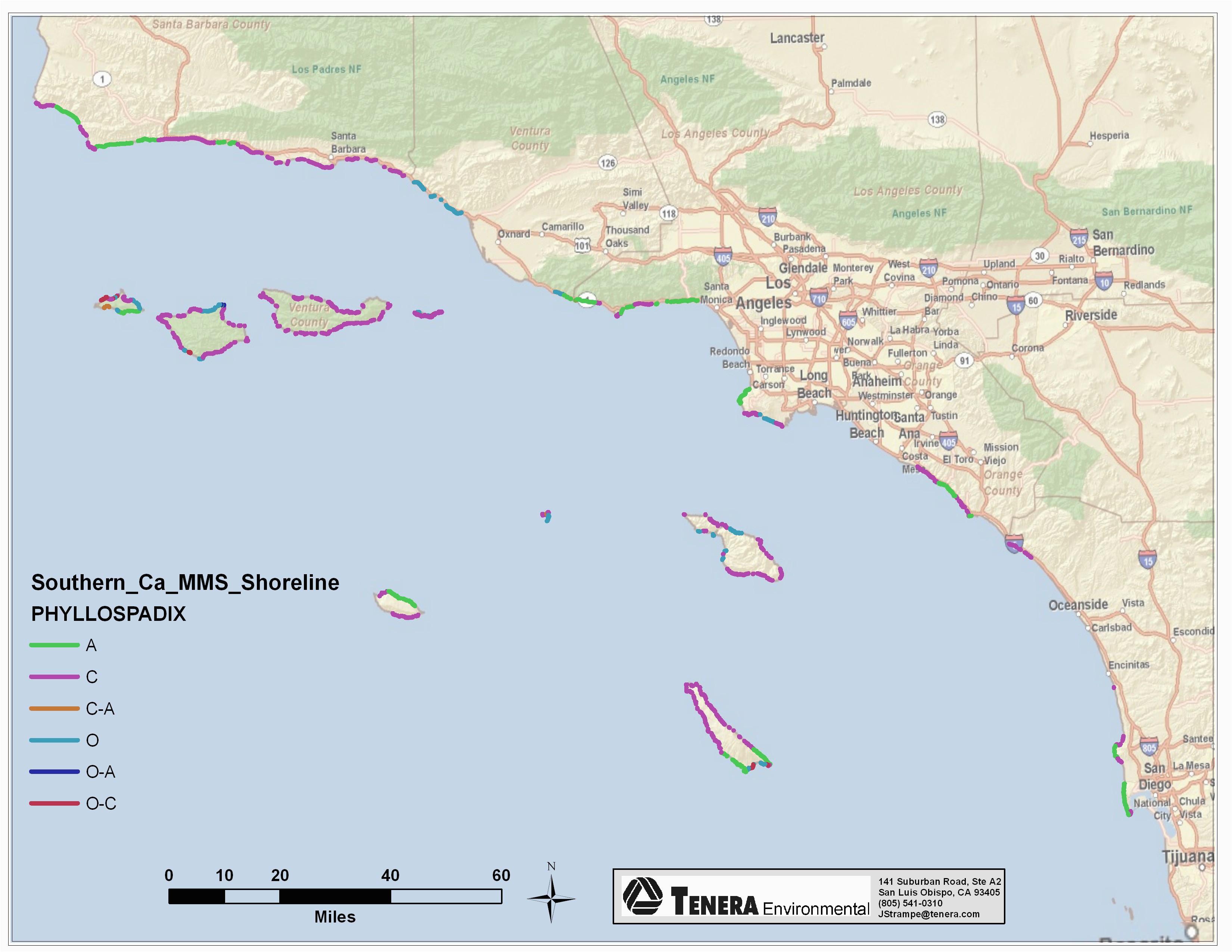 map of south california coast massivegroove com