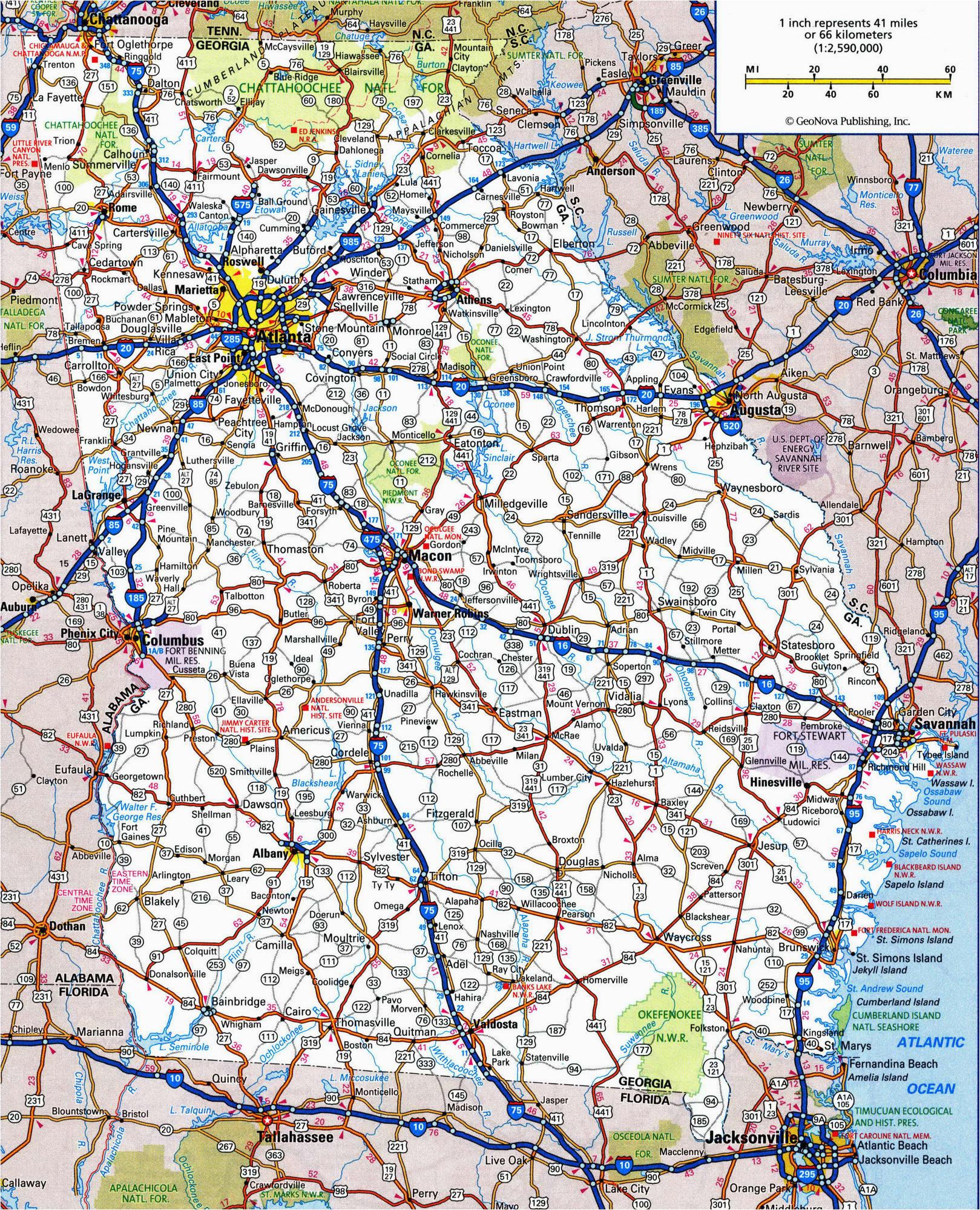 road map of georgia