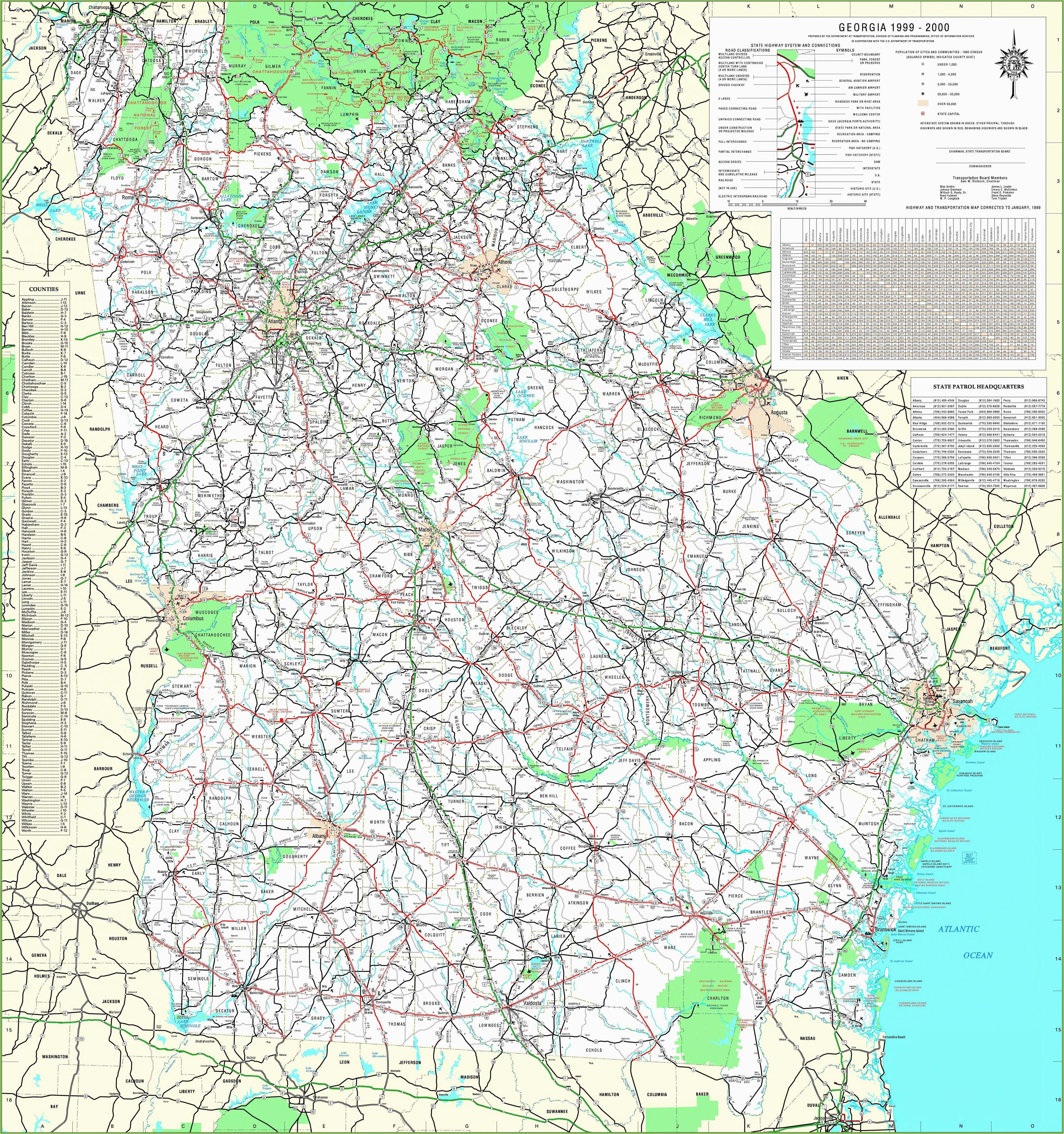 Road Map Of Georgia Usa Georgia State Maps Usa Maps Of