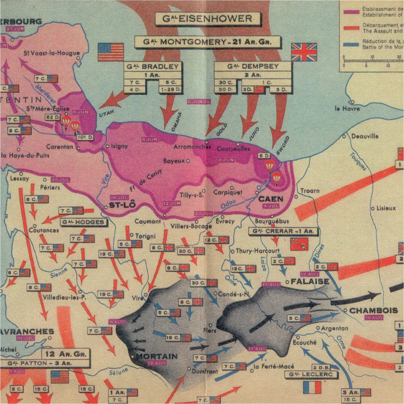 the story of d day in five maps vox