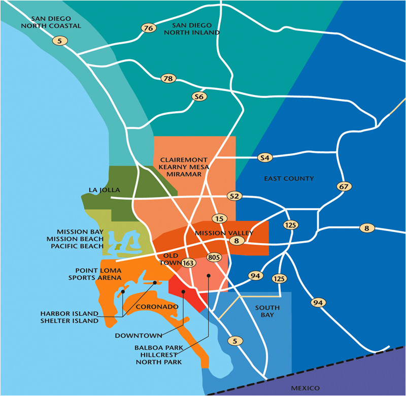 san diego neighborhood map elegant promotional materials guides