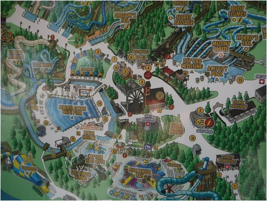 park map picture of six flags white water atlanta marietta