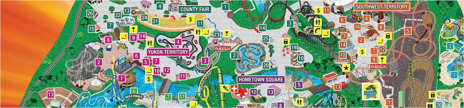 Six Flags Over Georgia Map | secretmuseum