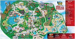 park map six flags great america