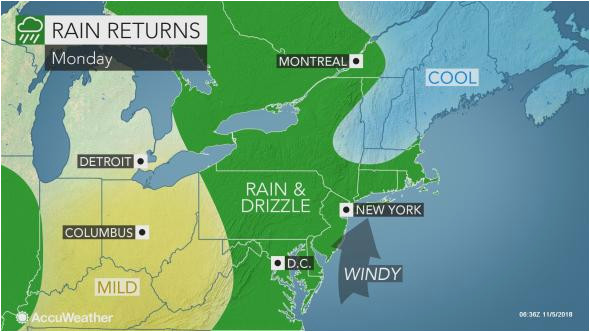 sunday s calm day in northeastern us to give way to more rain wind