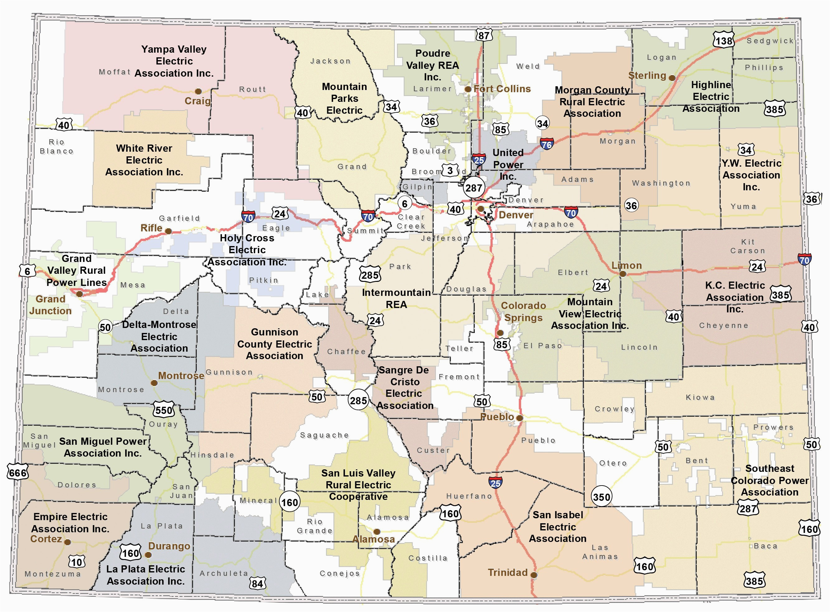 State Of Colorado Map with Cities United States Map Phoenix ...