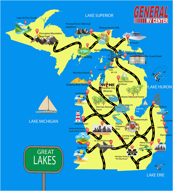 State Parks Michigan Map Rv Dealer Michigan Rv Dealer Utah Rv Dealer Ohio Rv Dealer Illinois1