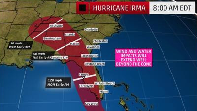 hurricane irma to provide dangerous weather conditions in georgia