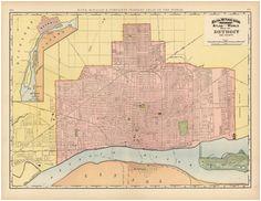 60 best detroit maps images on pinterest detroit map detroit