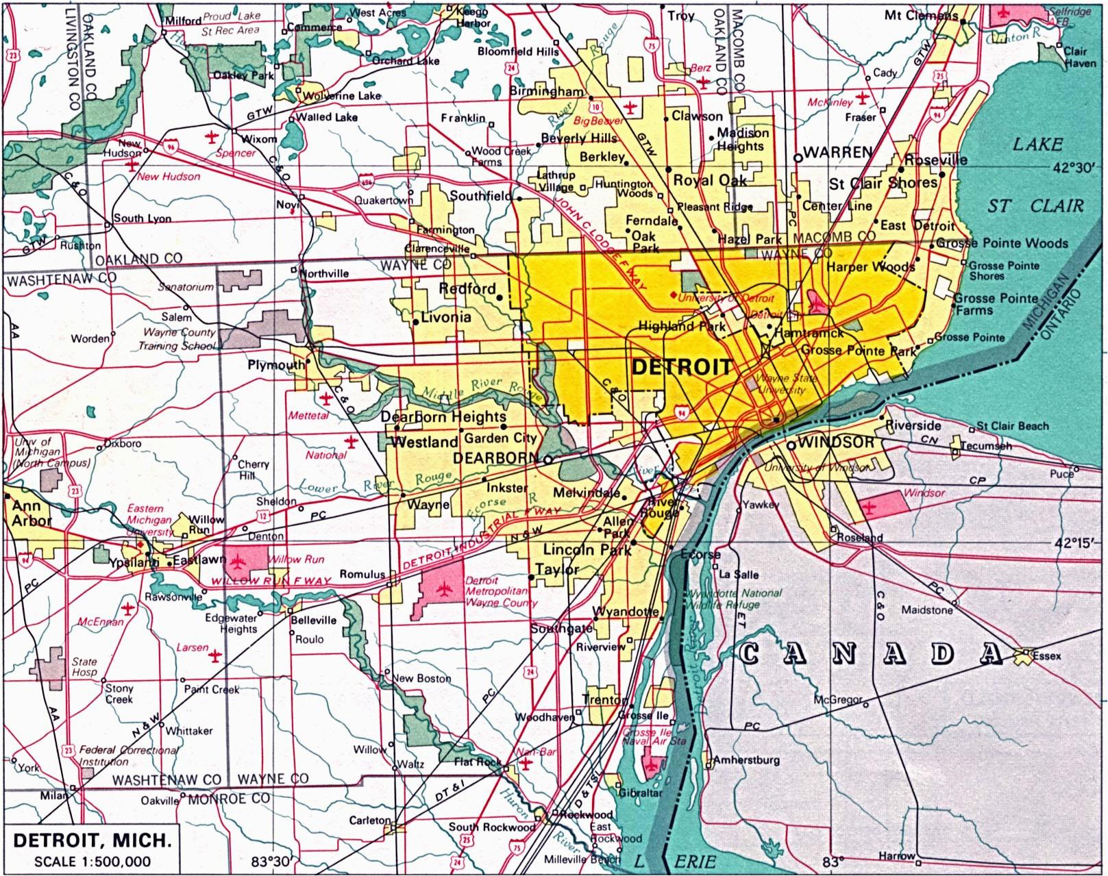 detroit road map bnhspine com
