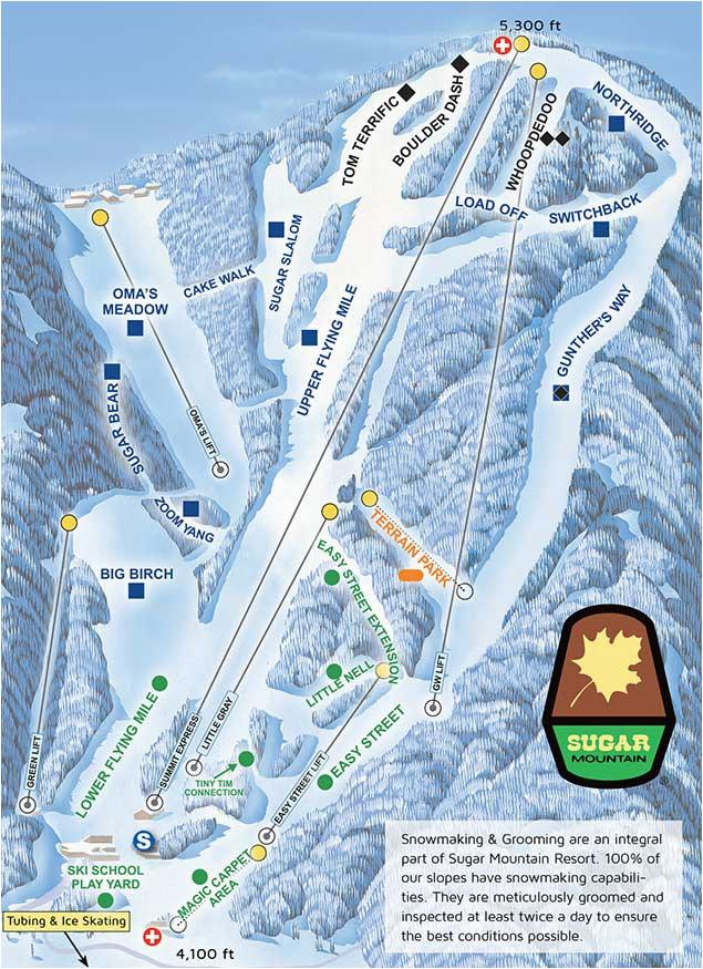 Sugar Mountain north Carolina Map Current Conditions Sugar Mountain Resort