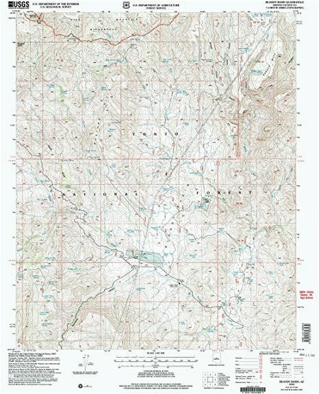 amazon com bloody basin az topo map 1 24000 scale 7 5 x 7 5