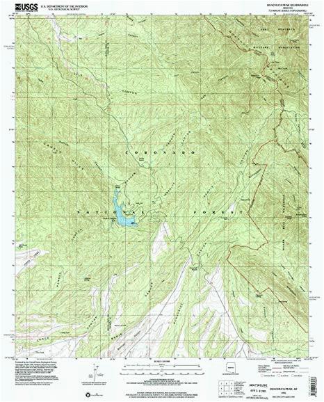 amazon com huachuca peak az topo map 1 24000 scale 7 5 x 7 5
