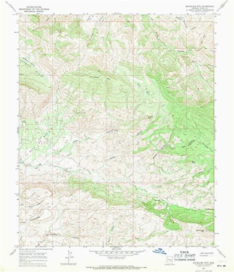 amazon com yellowmaps jerusalem mtn az topo map 1 24000 scale