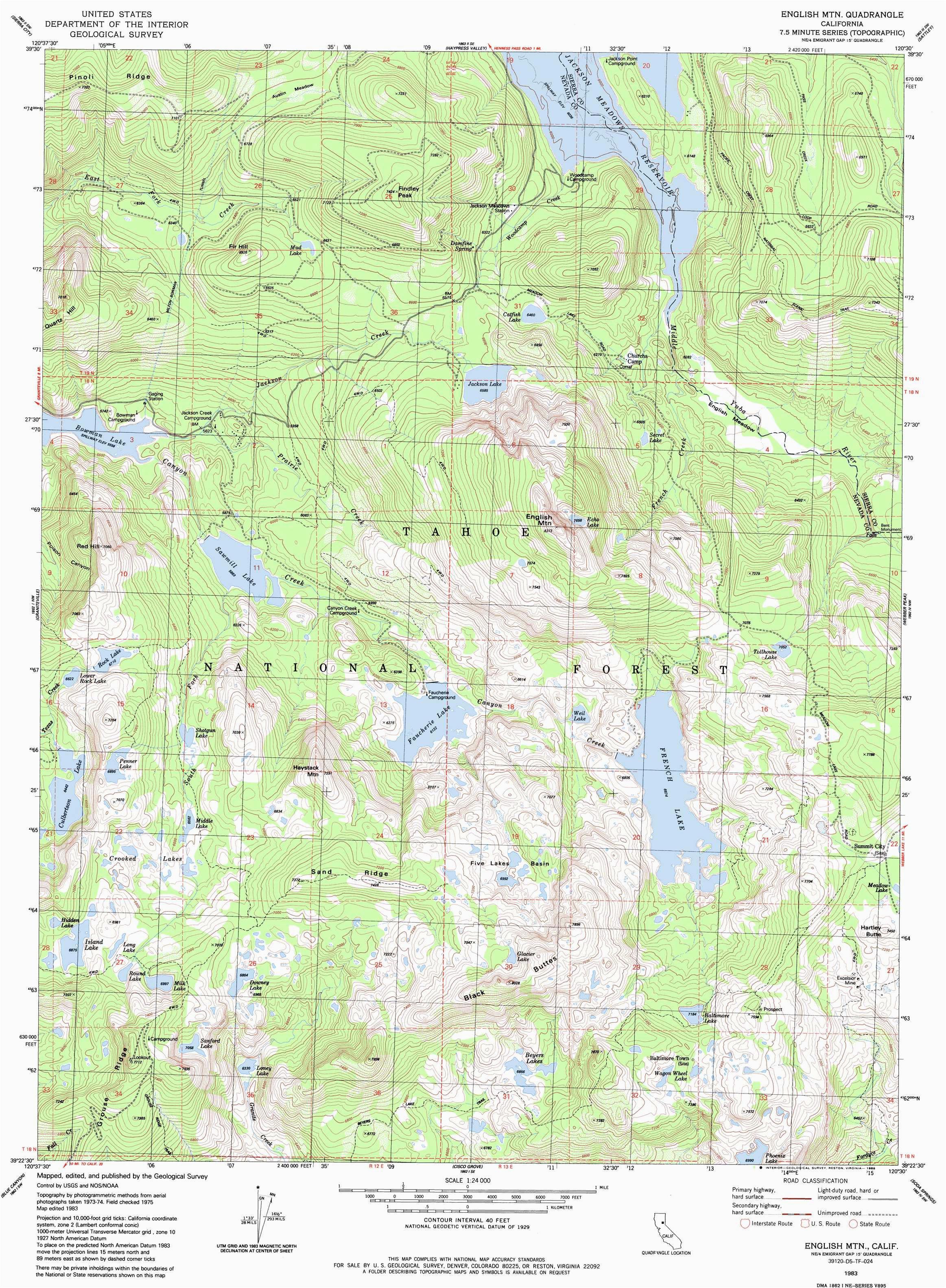 southern california coast map fresh english mountain topographic map