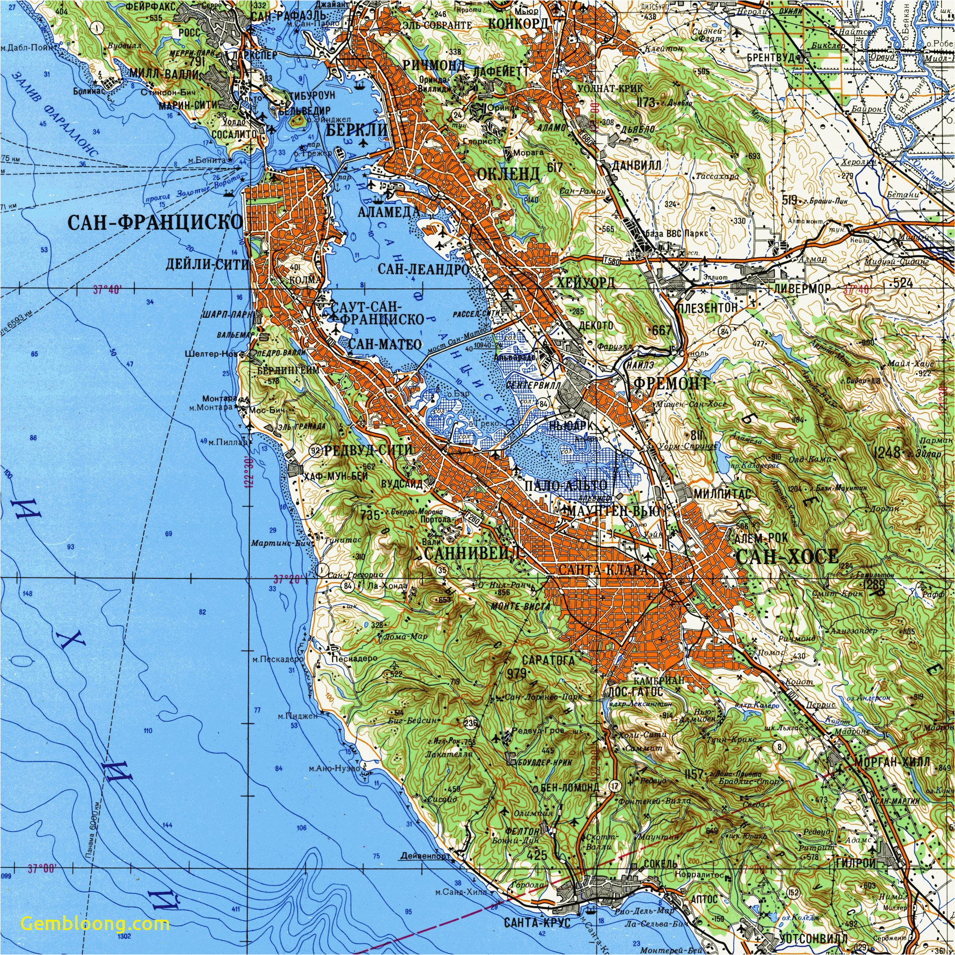 Topographic Map southern California Us Elevation Map Google ...