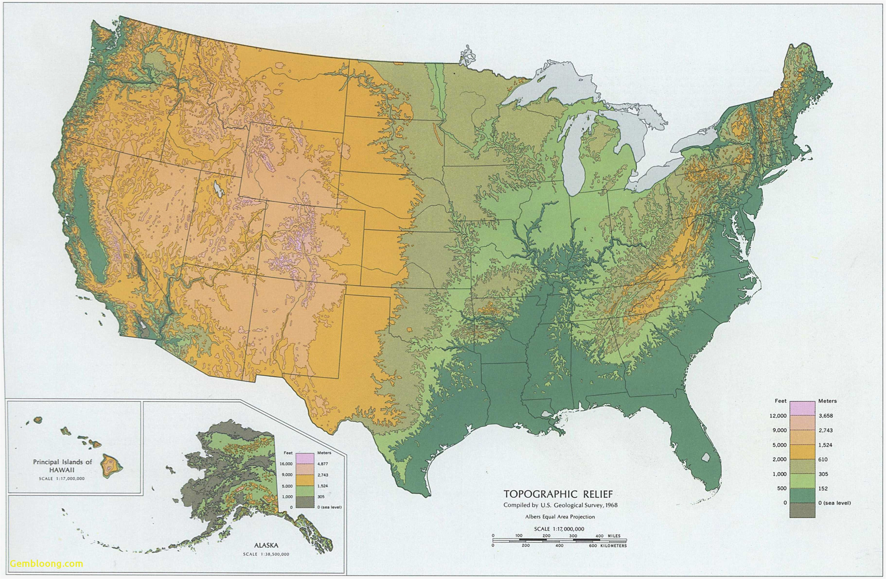 Topographic Map southern California Us Elevation Road Map ...