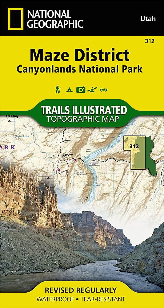 canyonlands national park maze district map 312 by national