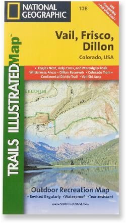trails illustrated vail frisco and dillon topographic map