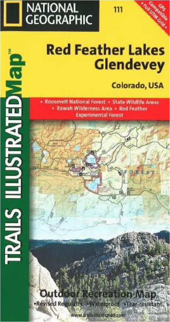 trails map of cache la poudre big thomson colorado 101