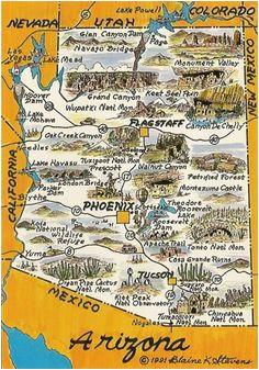 Travel Map Of Arizona | secretmuseum