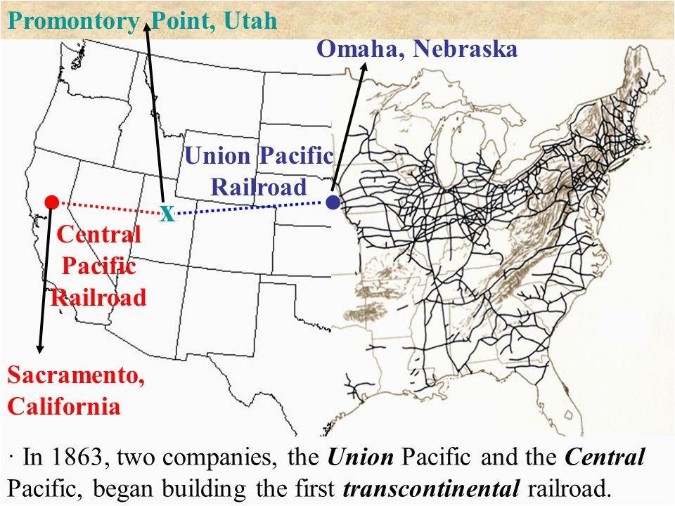 Union Pacific Railroad Map California Transcontinental ...