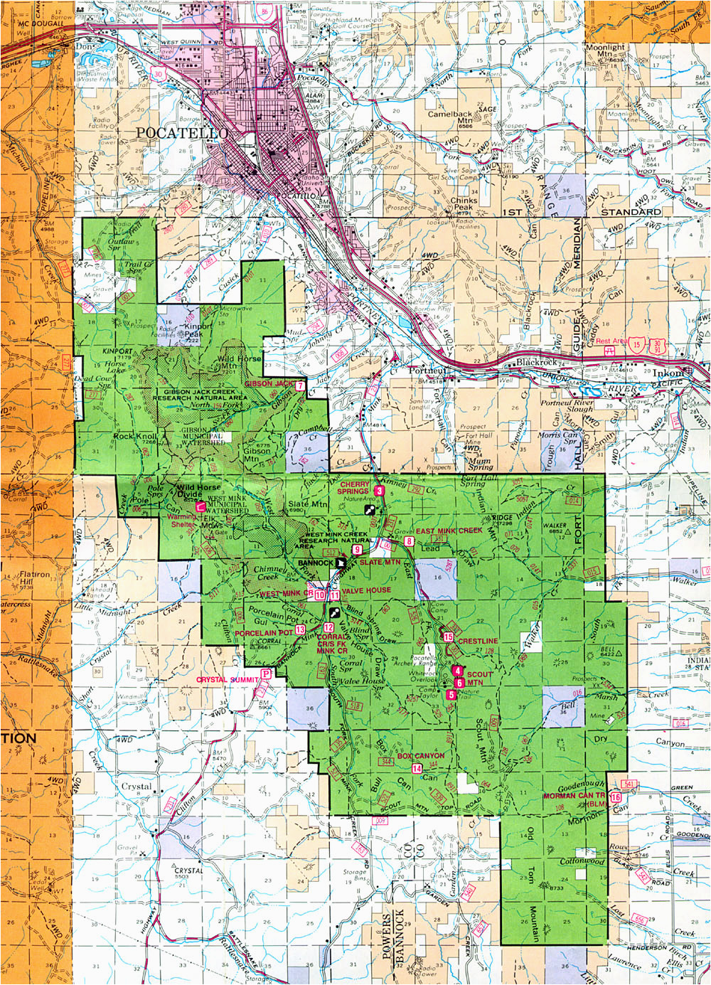 us forest service maps inspirational idaho forest map bnhspine