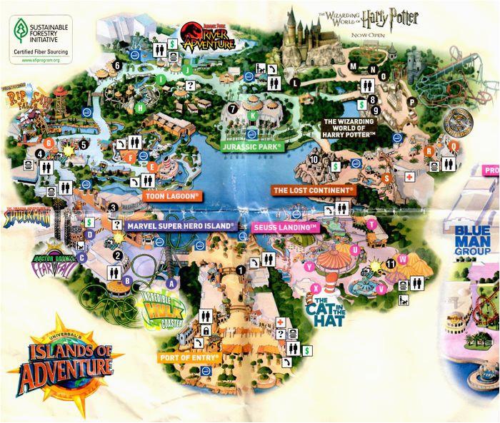 Universal Studio California Map Universal Studios California ...