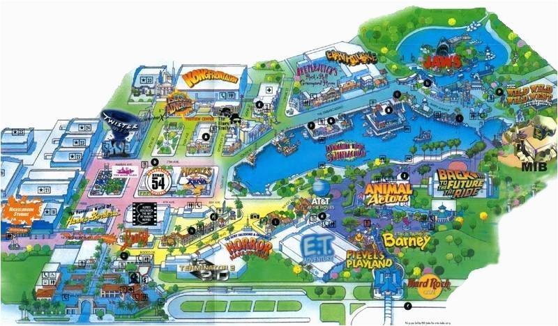 Universal Studios California Park Map | secretmuseum