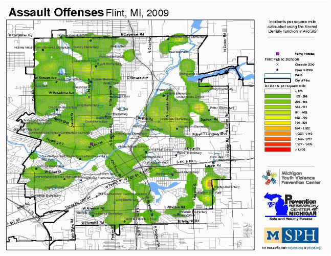 crime map library 2009 data set michigan youth violence