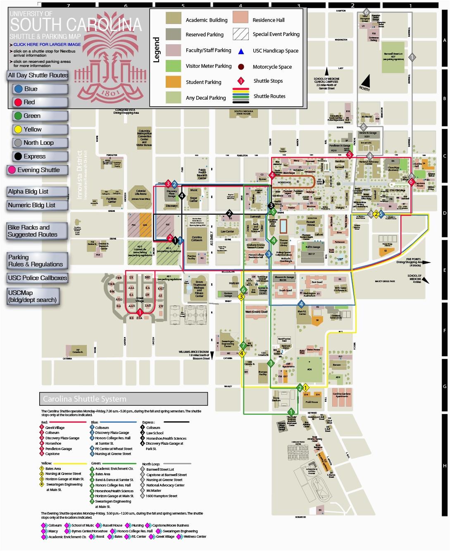 university of south carolina campus map ny county map