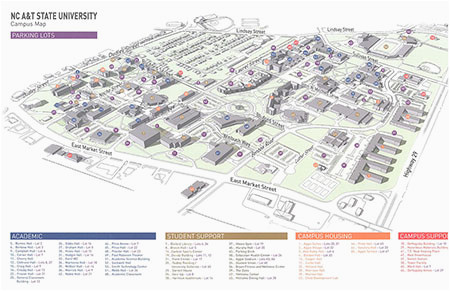 campus map north carolina a t state university