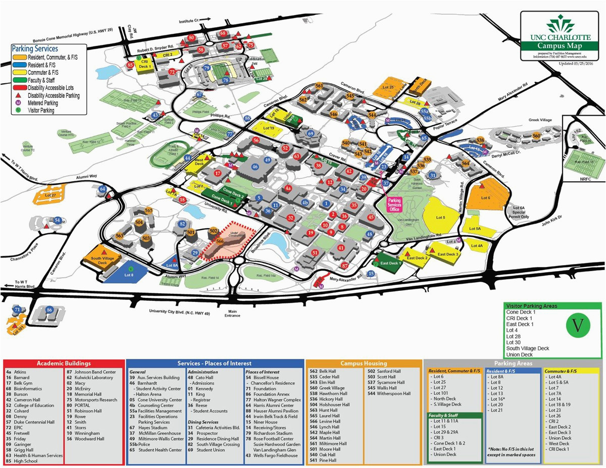 U Of S Map University Of north Carolina Chapel Hill Campus Map Unc Chapel